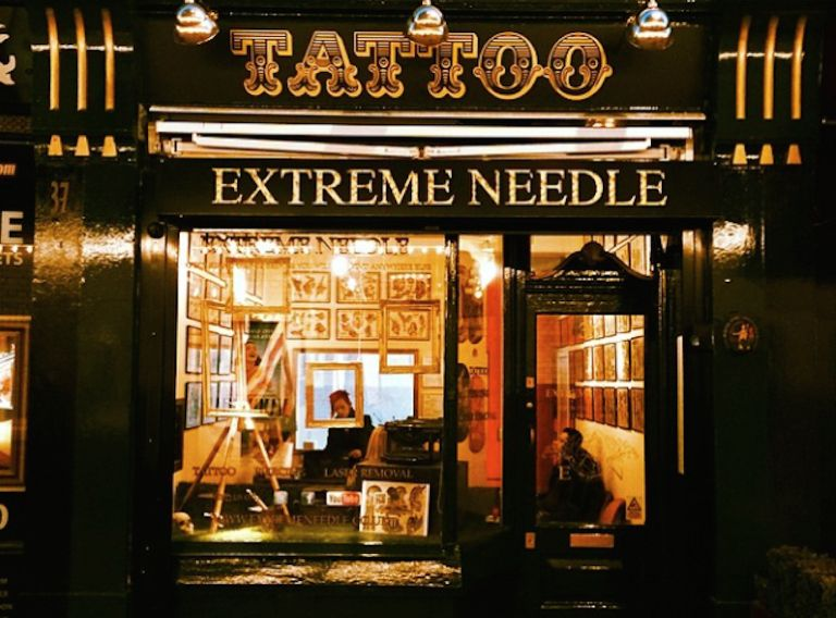 Extreme Needle Tattoo Parlour in London