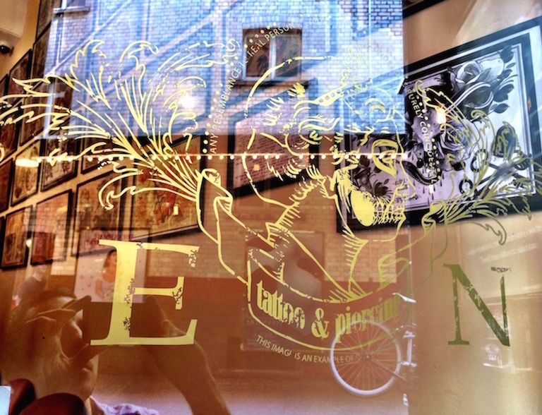 our tattoo shop window
