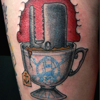 A Whale in the Tea Cup Vintage Tattoo