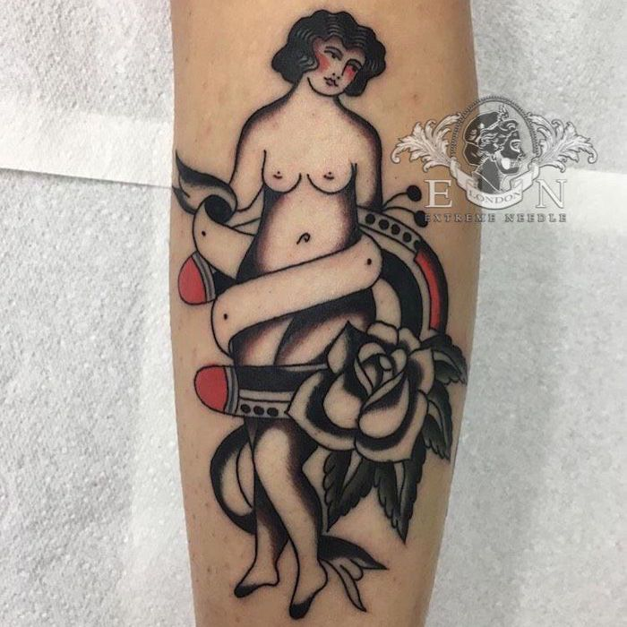 Traditional Woman Tattoo