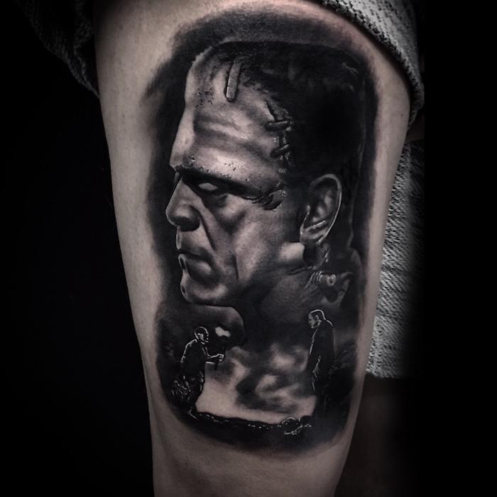 Aitor Black And Grey Realistic Tattoo Artist London